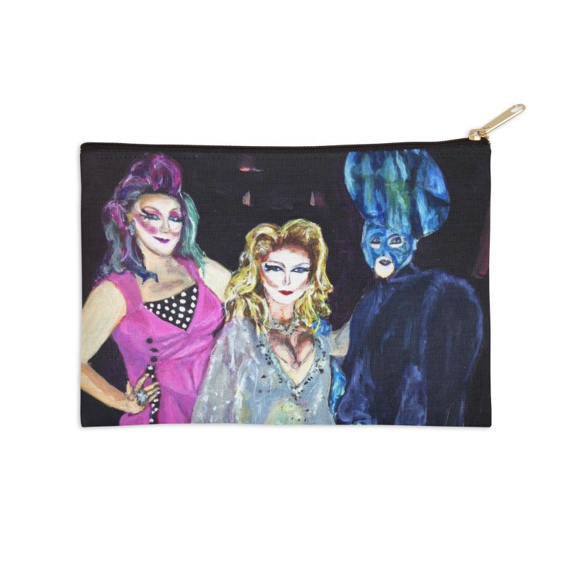 """Three Fancy Ladies"" Accessories Zip Pouch by NatalieGatesArt's Shop"