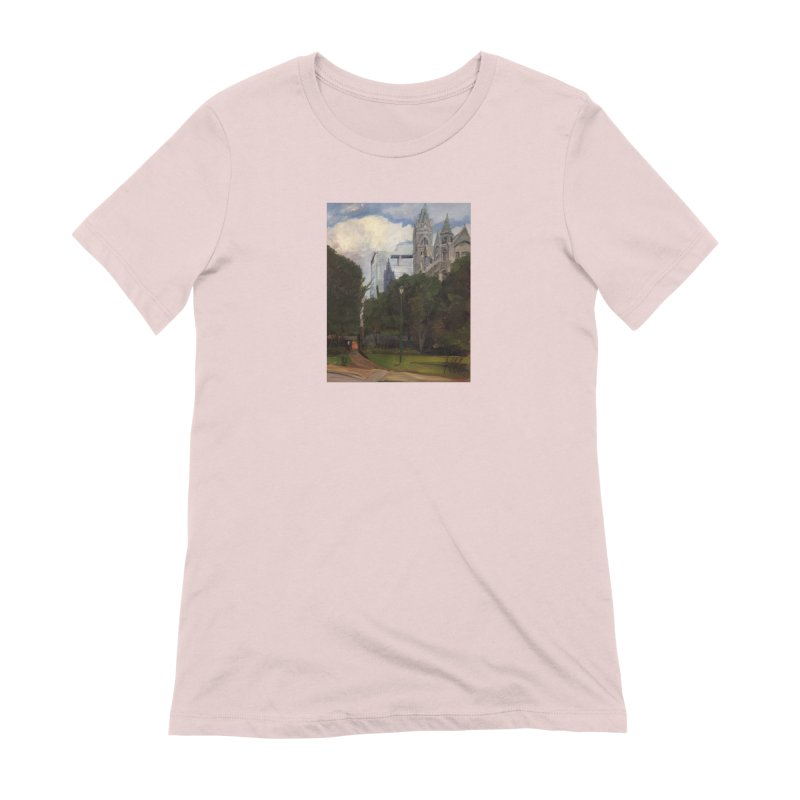 Old City Hall and Reflection Women's Extra Soft T-Shirt by NatalieGatesArt's Shop