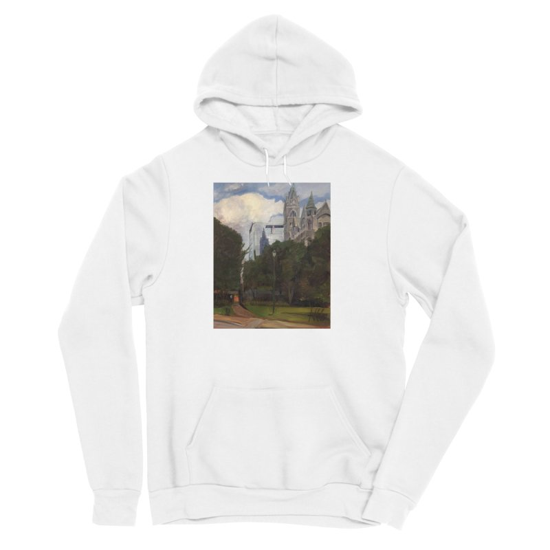 Old City Hall and Reflection Women's Sponge Fleece Pullover Hoody by NatalieGatesArt's Shop