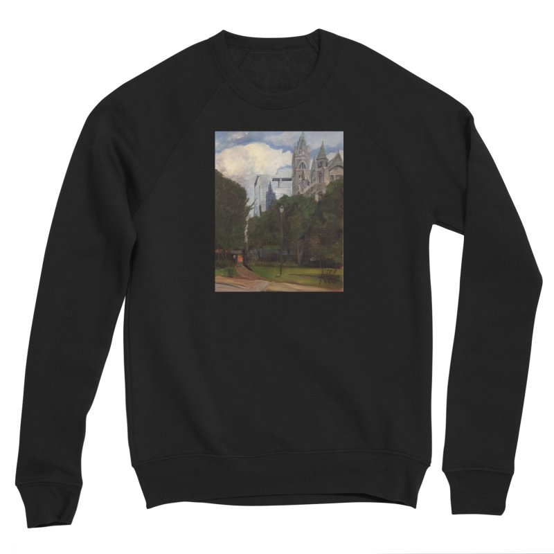 Old City Hall and Reflection Men's Sweatshirt by NatalieGatesArt's Shop