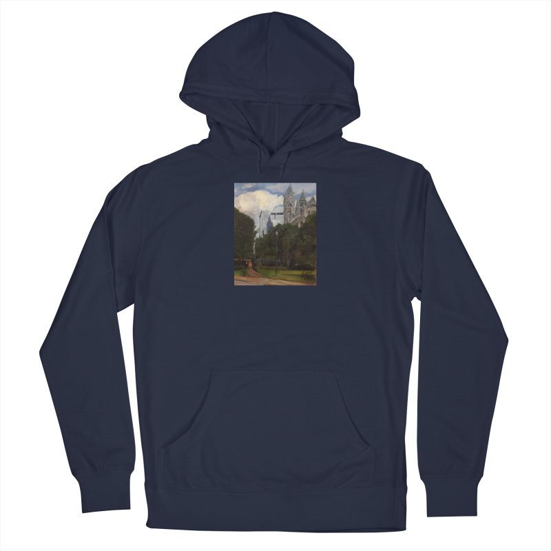 Old City Hall and Reflection Men's Pullover Hoody by NatalieGatesArt's Shop