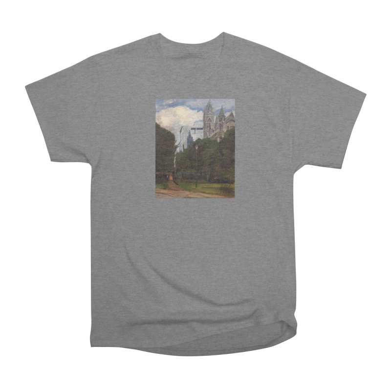 Old City Hall and Reflection Women's Heavyweight Unisex T-Shirt by NatalieGatesArt's Shop