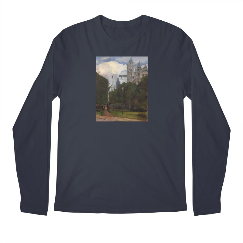 Old City Hall and Reflection Men's Regular Longsleeve T-Shirt by NatalieGatesArt's Shop