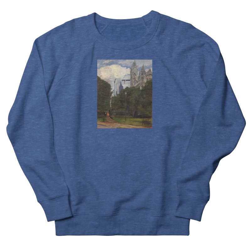 Old City Hall and Reflection Men's French Terry Sweatshirt by NatalieGatesArt's Shop