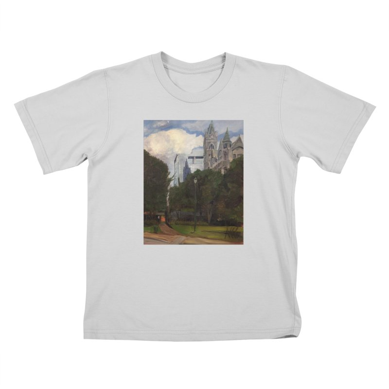 Old City Hall and Reflection Kids T-Shirt by NatalieGatesArt's Shop