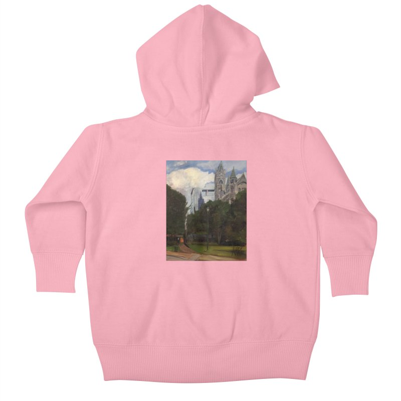 Old City Hall and Reflection Kids Baby Zip-Up Hoody by NatalieGatesArt's Shop