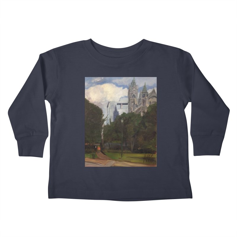 Old City Hall and Reflection Kids Toddler Longsleeve T-Shirt by NatalieGatesArt's Shop