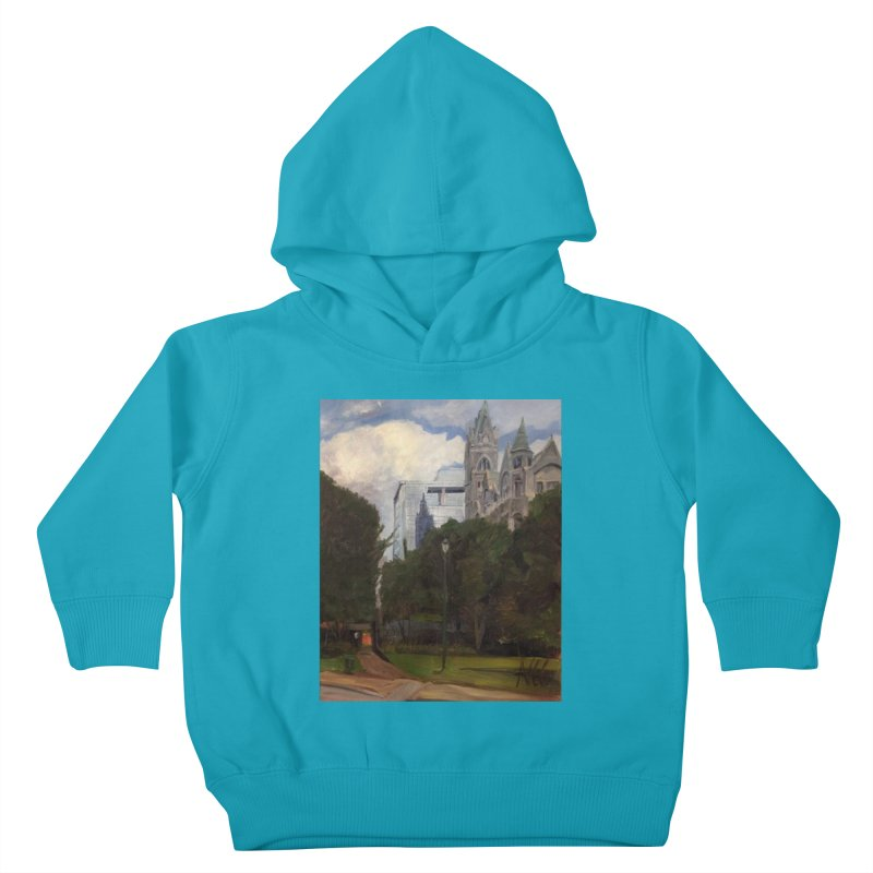 Old City Hall and Reflection Kids Toddler Pullover Hoody by NatalieGatesArt's Shop