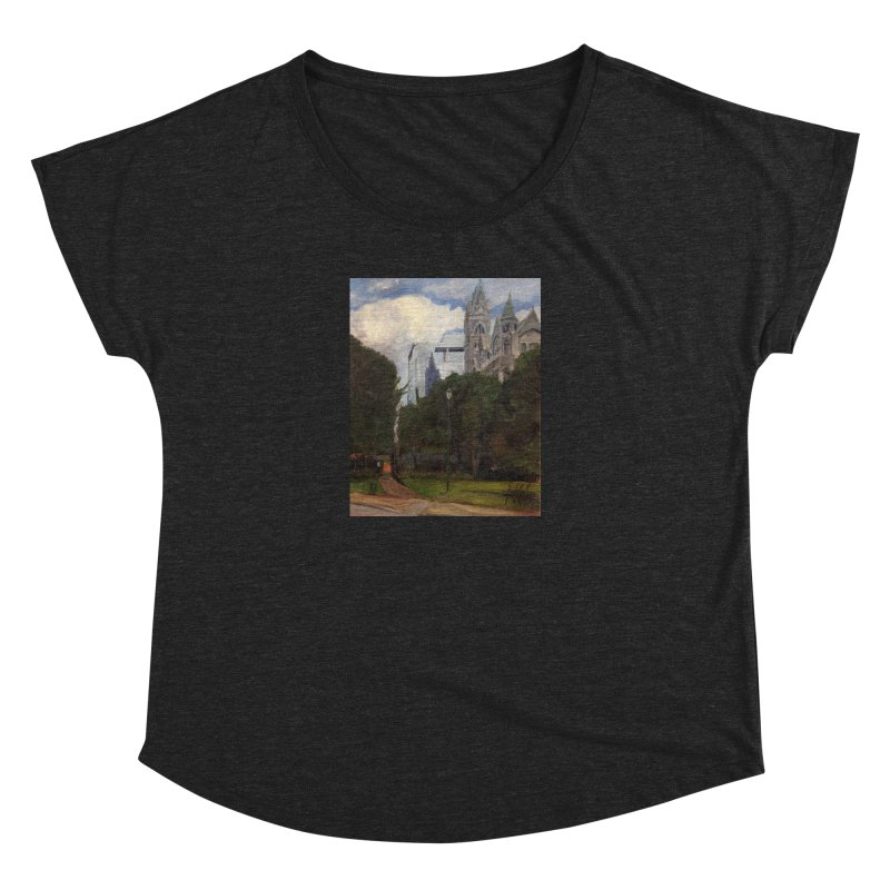 Old City Hall and Reflection Women's Dolman Scoop Neck by NatalieGatesArt's Shop