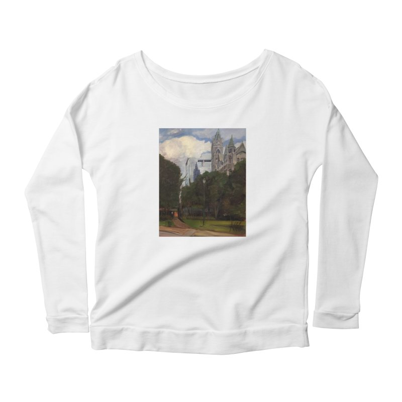 Old City Hall and Reflection Women's Scoop Neck Longsleeve T-Shirt by NatalieGatesArt's Shop