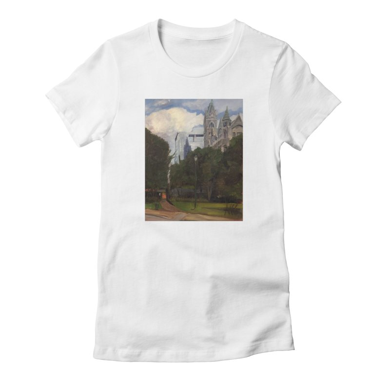 Old City Hall and Reflection Women's Fitted T-Shirt by NatalieGatesArt's Shop