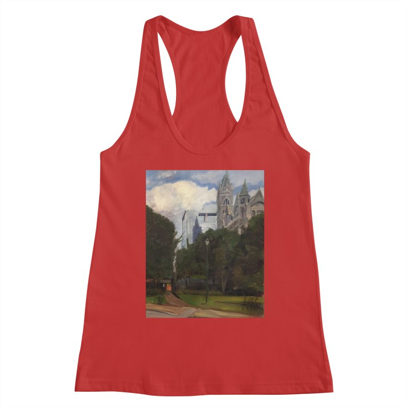 Old City Hall and Reflection Women's Racerback Tank by NatalieGatesArt's Shop