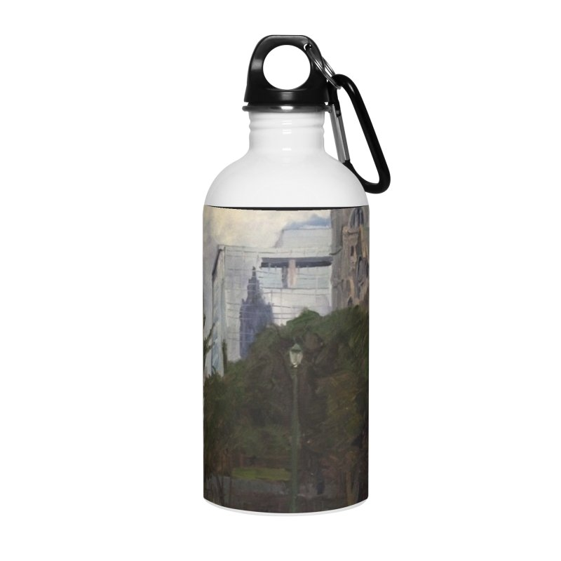 Old City Hall and Reflection Accessories Water Bottle by NatalieGatesArt's Shop