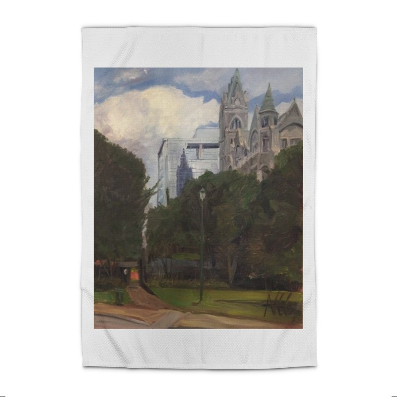 Old City Hall and Reflection Home Rug by NatalieGatesArt's Shop