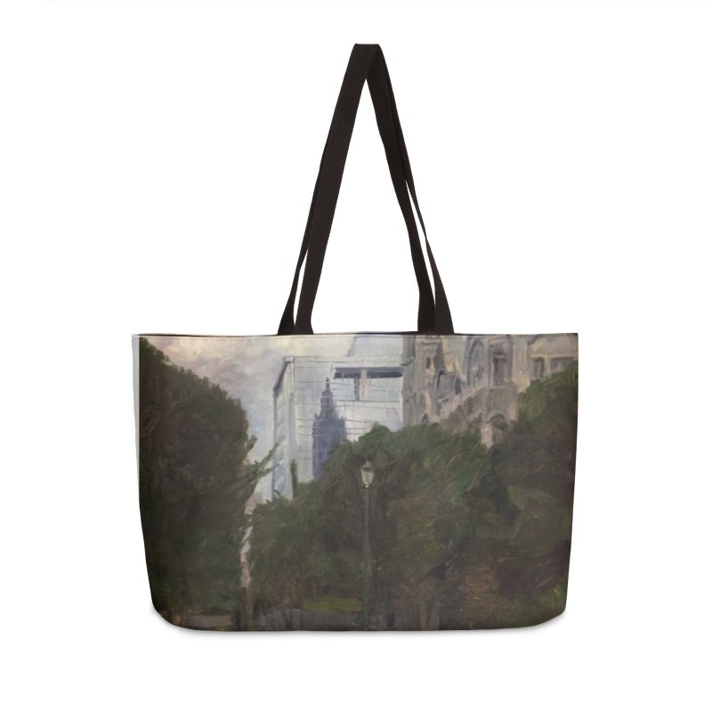 Old City Hall and Reflection Accessories Weekender Bag Bag by NatalieGatesArt's Shop