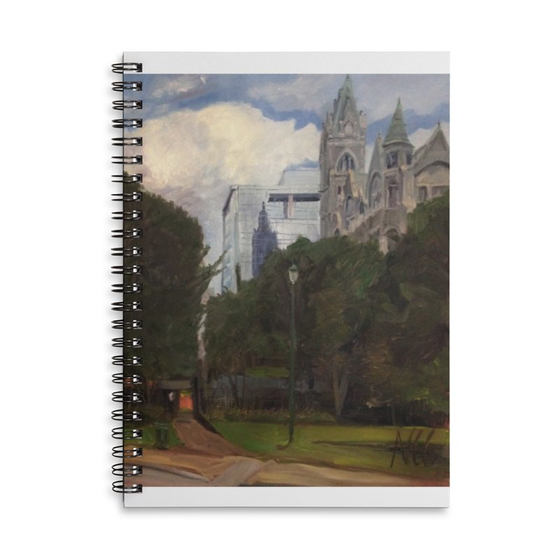 Old City Hall and Reflection Accessories Lined Spiral Notebook by NatalieGatesArt's Shop