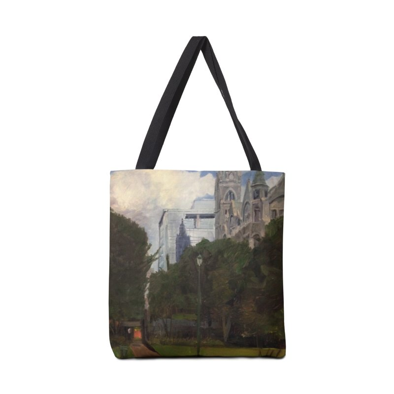Old City Hall and Reflection Accessories Tote Bag Bag by NatalieGatesArt's Shop
