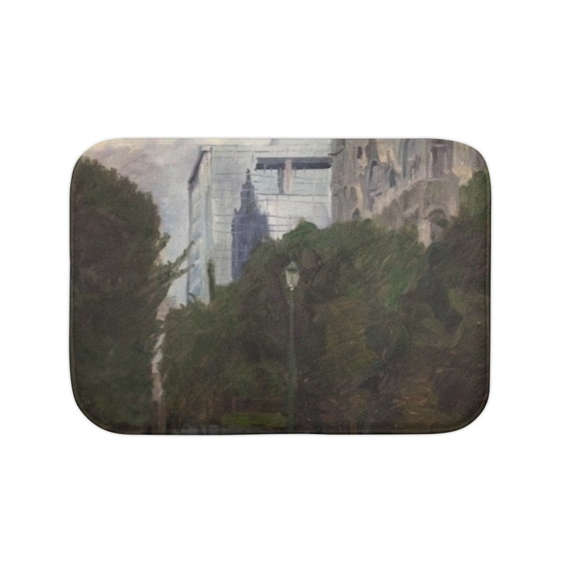 Old City Hall and Reflection Home Bath Mat by NatalieGatesArt's Shop