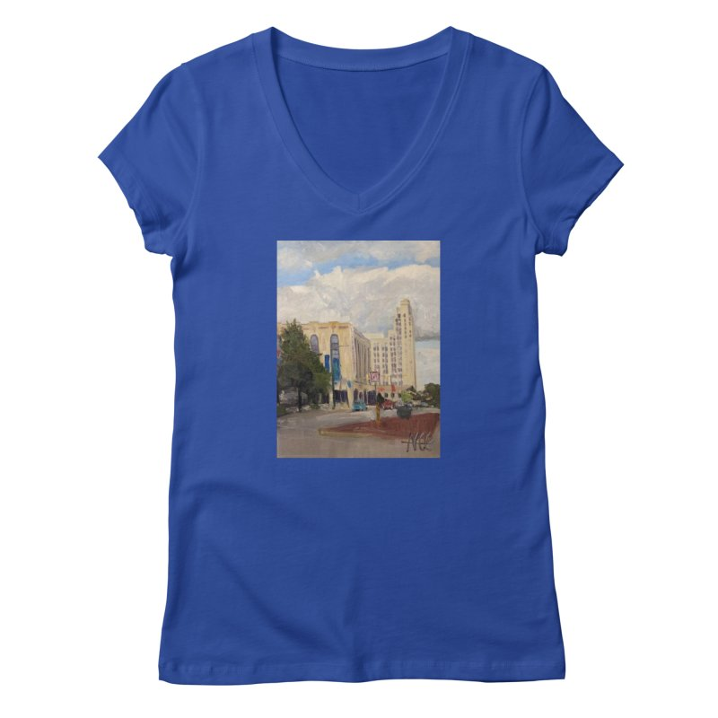 Miller and Rhoads Women's Regular V-Neck by NatalieGatesArt's Shop