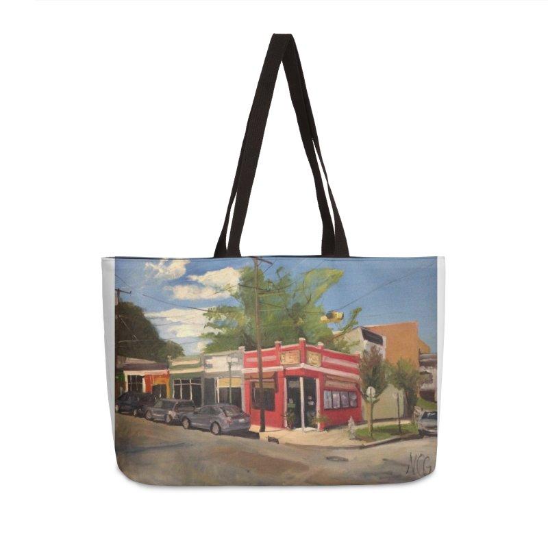 China Panda, Devil's Triangle Accessories Weekender Bag Bag by NatalieGatesArt's Shop
