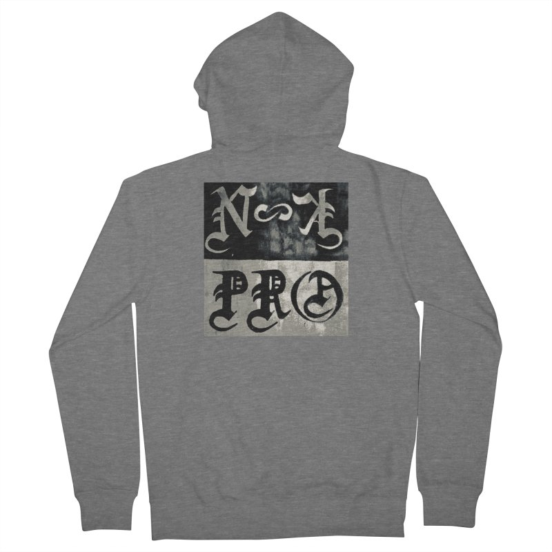 NateKidPro logo Men's French Terry Zip-Up Hoody by NateKid Productions's Artist Shop