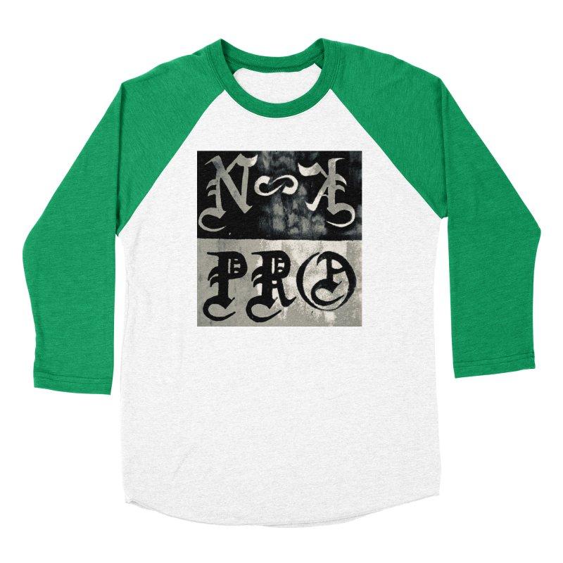 NateKidPro logo Men's Baseball Triblend Longsleeve T-Shirt by NateKid Productions's Artist Shop