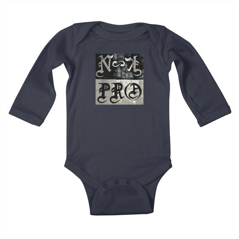 NateKidPro logo Kids Baby Longsleeve Bodysuit by NateKid Productions's Artist Shop