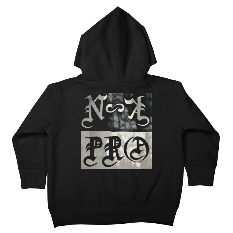 NateKidPro logo Kids Toddler Zip-Up Hoody by NateKid Productions's Artist Shop