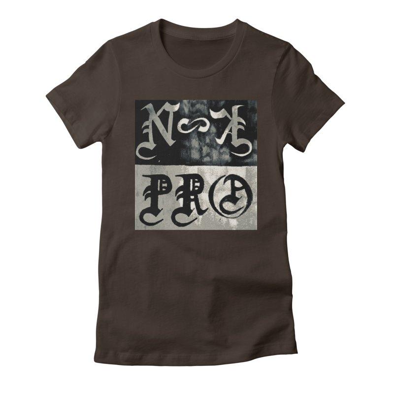 NateKidPro logo Women's Fitted T-Shirt by NateKid Productions's Artist Shop