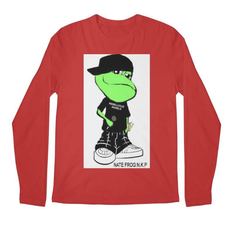 Nate Frog Cartoon Men's Regular Longsleeve T-Shirt by NateKid Productions's Artist Shop