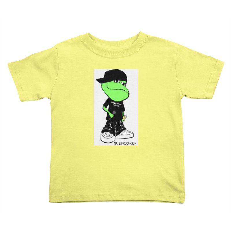 Nate Frog Cartoon Kids Toddler T-Shirt by NateKid Productions's Artist Shop