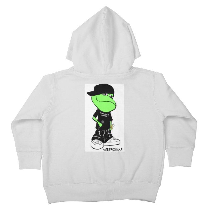 Nate Frog Cartoon Kids Toddler Zip-Up Hoody by NateKid Productions's Artist Shop