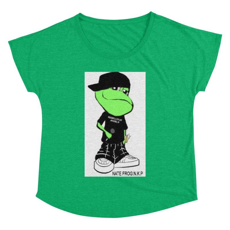 Nate Frog Cartoon Women's Dolman Scoop Neck by NateKid Productions's Artist Shop