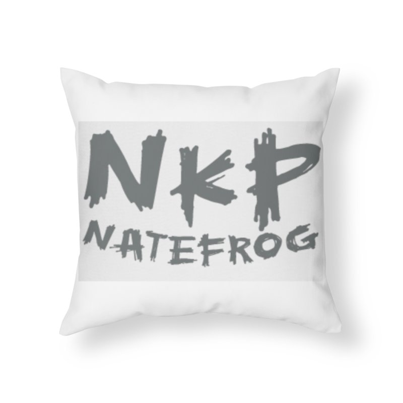 NKP NATE FROG Home Throw Pillow by NateKid Productions's Artist Shop