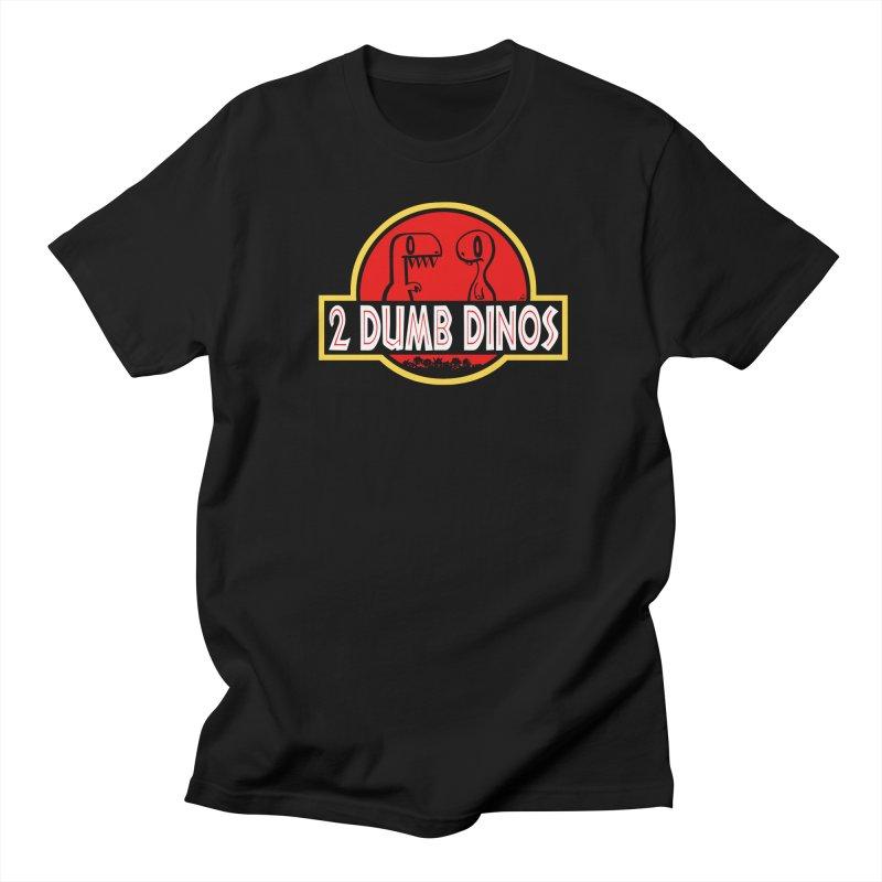 2 Dumb Dinos Men's T-Shirt Men's Regular T-Shirt by Nathan Hamill