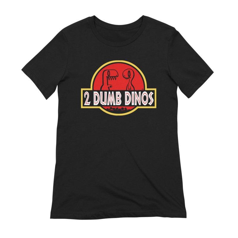 2 Dumb Dinos Women's T-Shirt Women's Extra Soft T-Shirt by Nathan Hamill