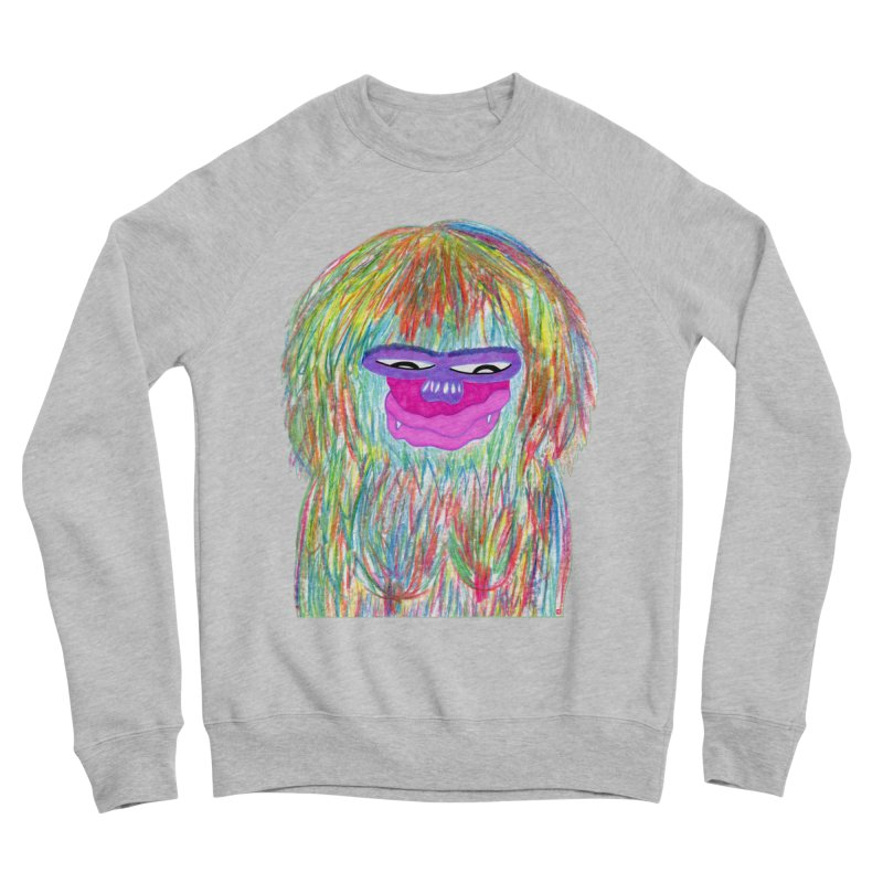 Lady monkey Men's Sponge Fleece Sweatshirt by NatiRomero's Artist Shop