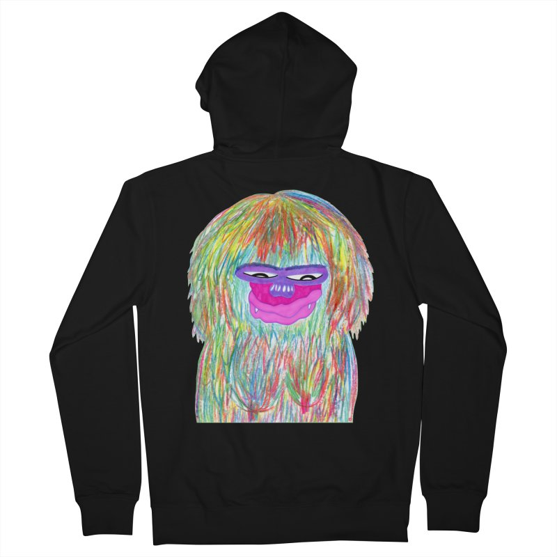 Lady monkey Men's Zip-Up Hoody by NatiRomero's Artist Shop