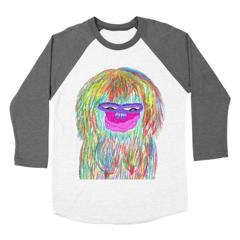 Lady monkey Men's Baseball Triblend Longsleeve T-Shirt by NatiRomero's Artist Shop