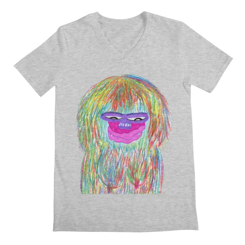 Lady monkey Men's Regular V-Neck by NatiRomero's Artist Shop