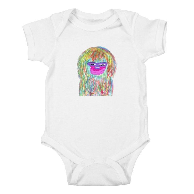 Lady monkey Kids Baby Bodysuit by NatiRomero's Artist Shop