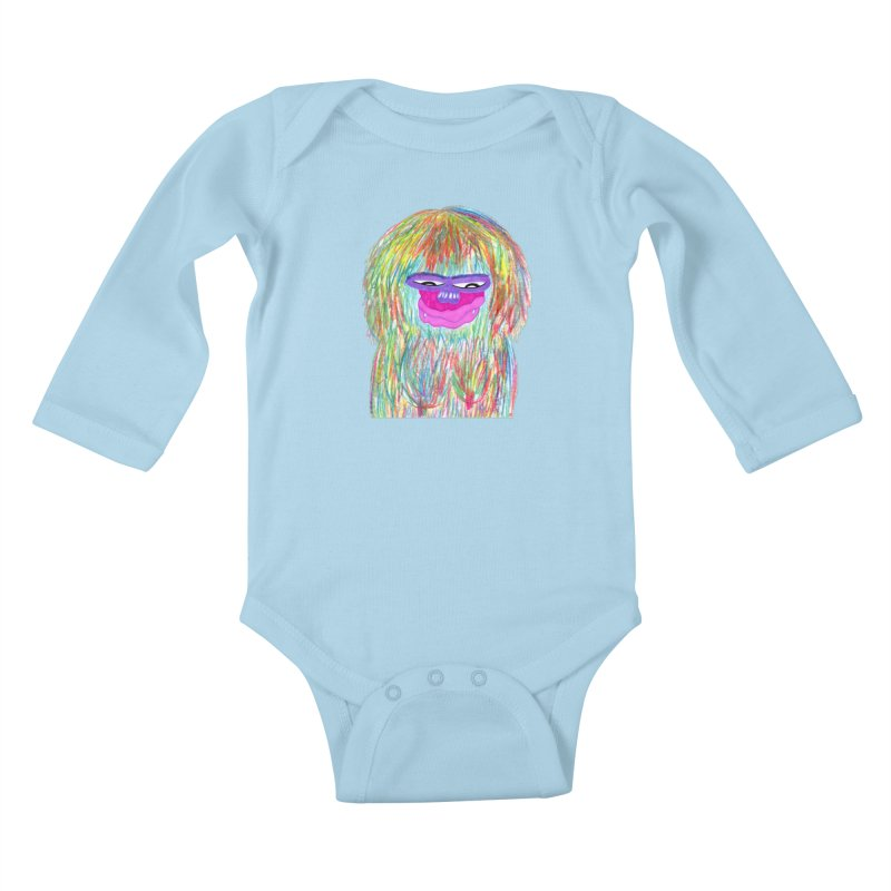 Lady monkey Kids Baby Longsleeve Bodysuit by NatiRomero's Artist Shop