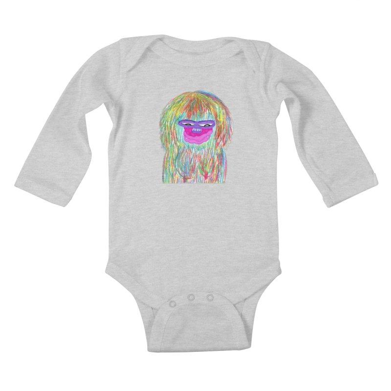 Lady monkey Kids Baby Longsleeve Bodysuit by NatiRomero's Artist Shop