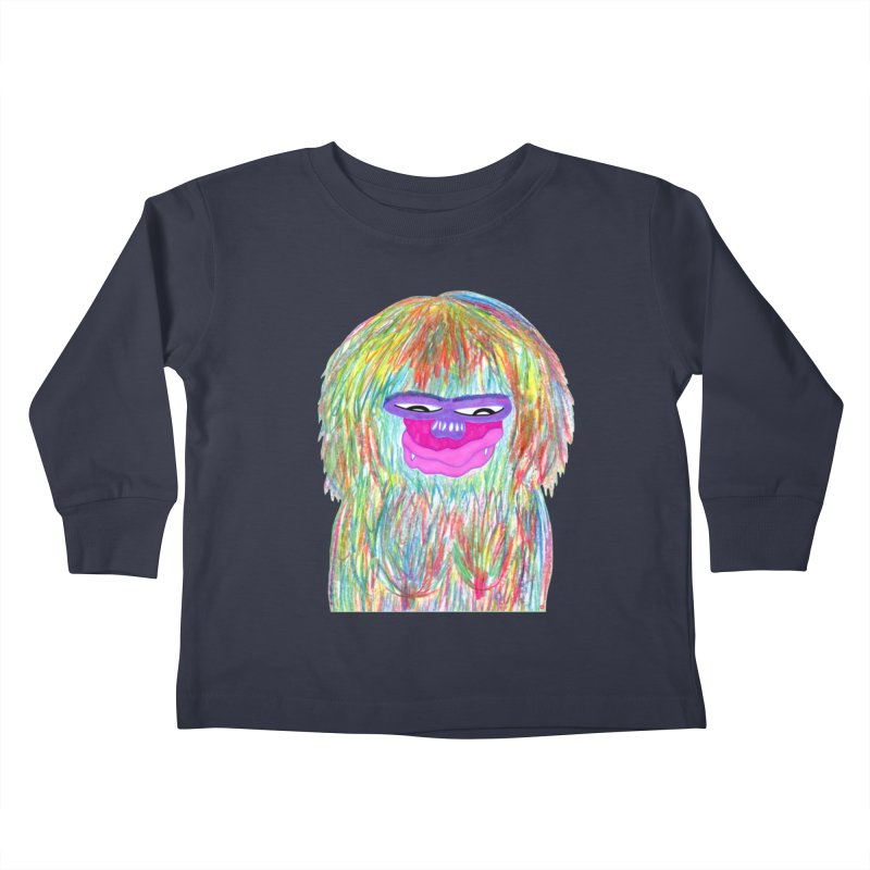 Lady monkey Kids Toddler Longsleeve T-Shirt by NatiRomero's Artist Shop