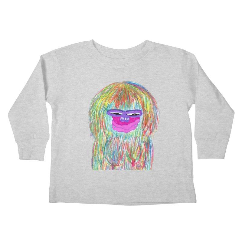 Lady monkey Kids Toddler Longsleeve T-Shirt by NatiRomero's Artist Shop