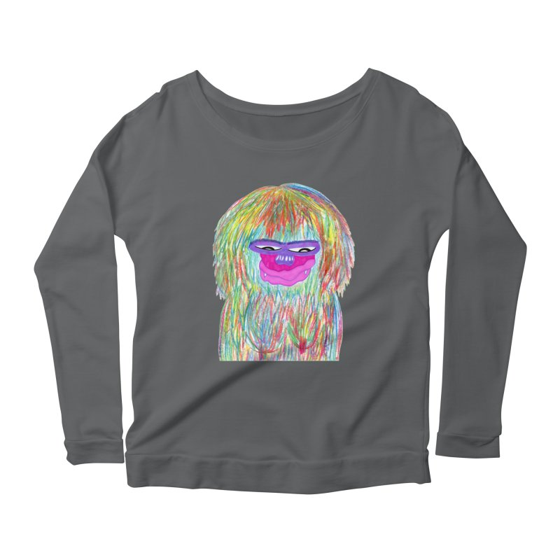 Lady monkey Women's Scoop Neck Longsleeve T-Shirt by NatiRomero's Artist Shop