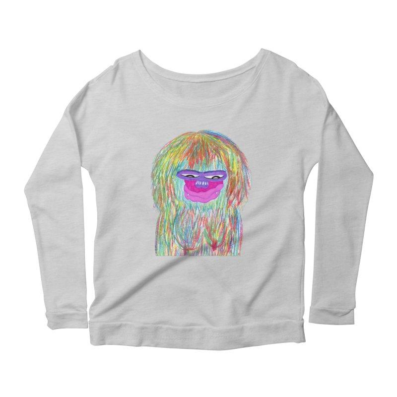 Lady monkey Women's Scoop Neck Longsleeve T-Shirt by NatiRomero's Artist Shop