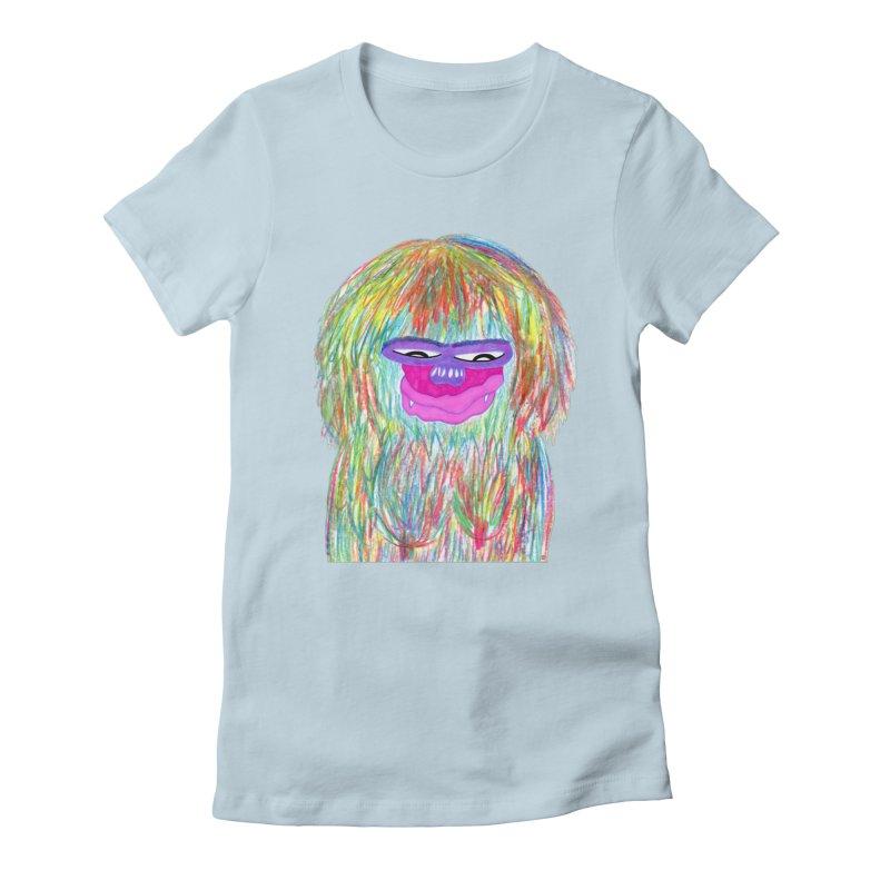 Lady monkey Women's Fitted T-Shirt by NatiRomero's Artist Shop