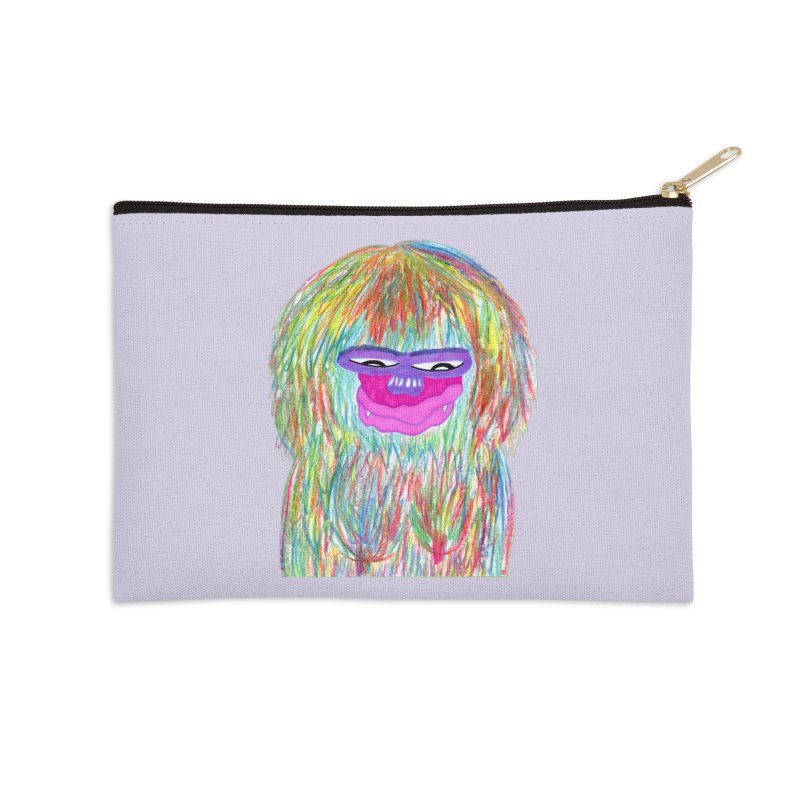 Lady monkey Accessories Zip Pouch by NatiRomero's Artist Shop