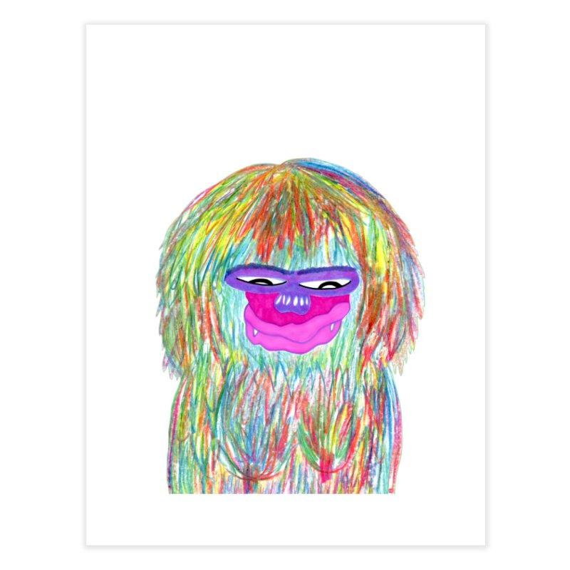 Lady monkey Home Fine Art Print by NatiRomero's Artist Shop